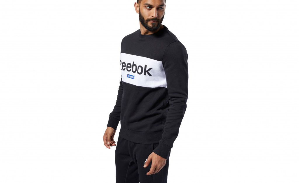 REEBOK TRAINING ESSENTIALS BIG LOGO CREW IMAGE 4