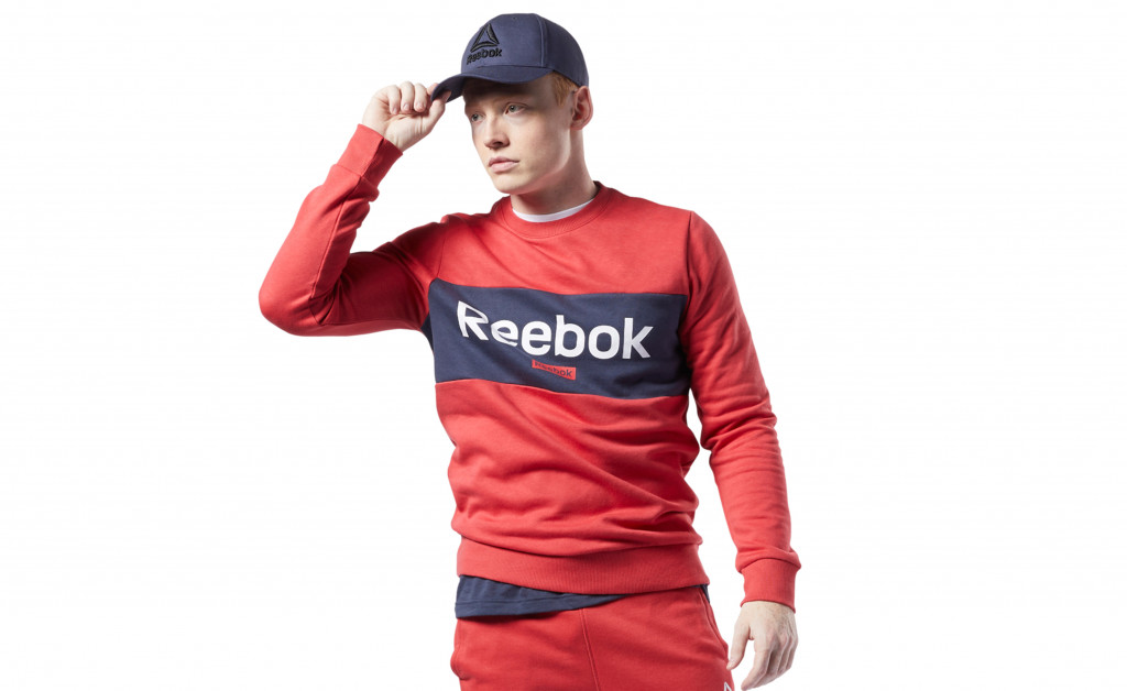 REEBOK TRAINING ESSENTIALS BIG LOGO CREW IMAGE 1