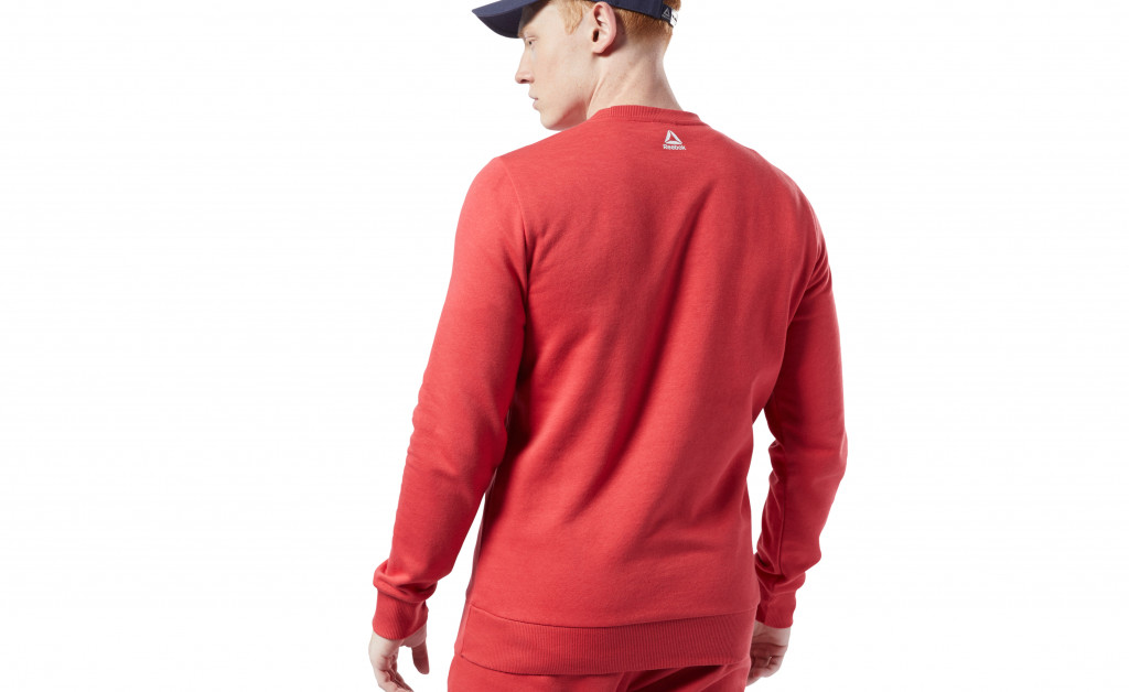 REEBOK TRAINING ESSENTIALS BIG LOGO CREW IMAGE 5