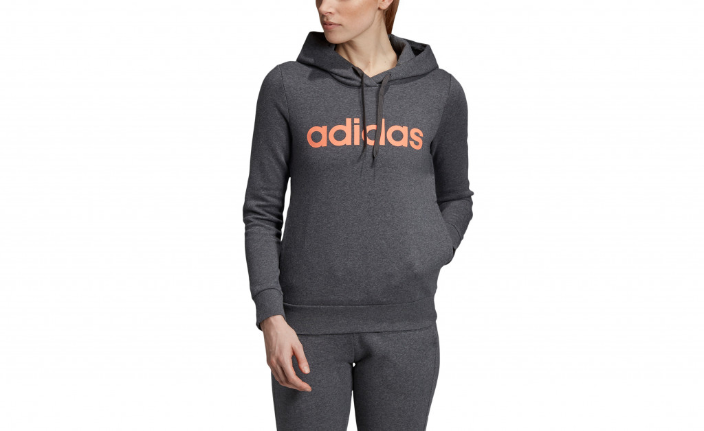 adidas LINEAR OVER HEAD FLEECE IMAGE 4