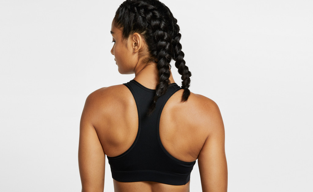 NIKE VICTORY COMPRESSION BRA METALLIC IMAGE 3
