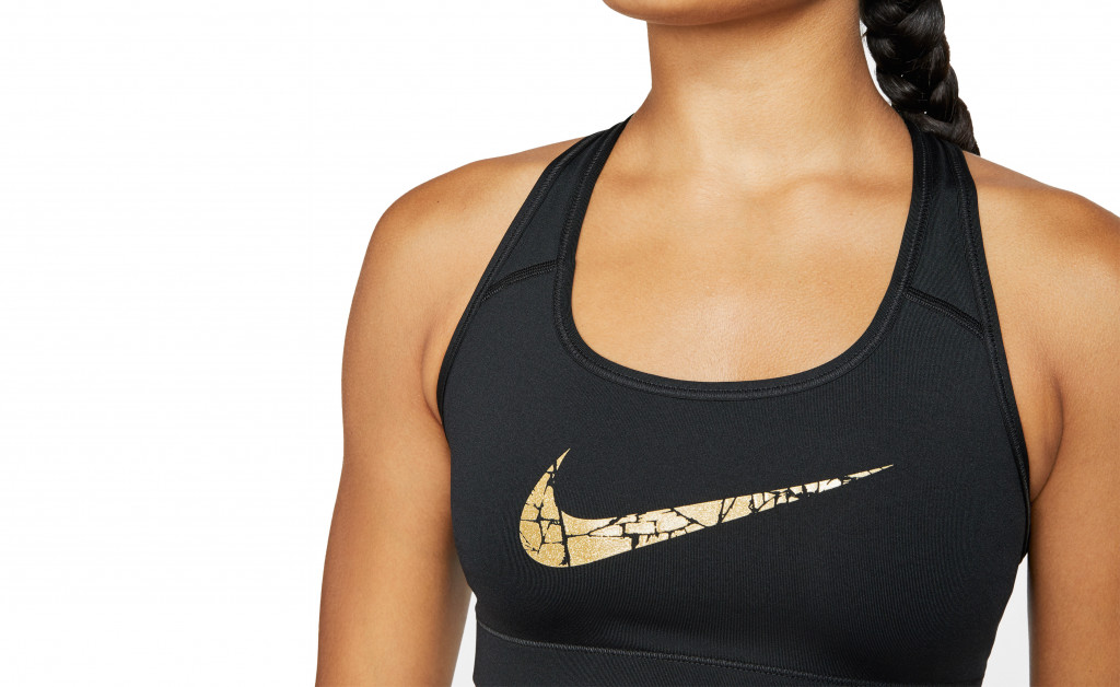 NIKE VICTORY COMPRESSION BRA METALLIC IMAGE 6