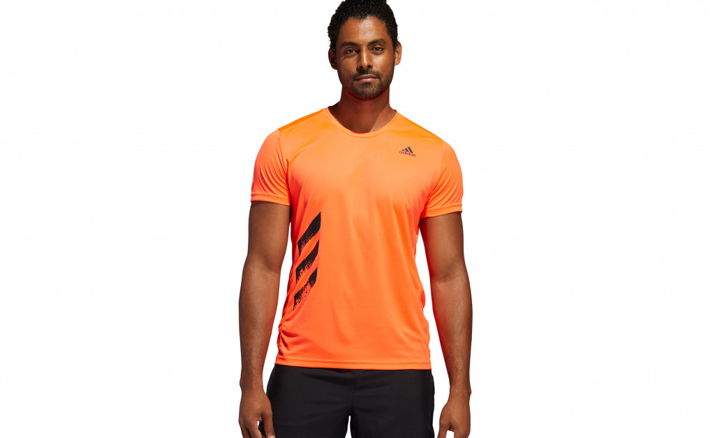adidas RUN IT TEE PB 3 STRIPES MEN IMAGE 3