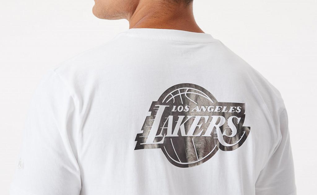 NEW ERA LA LAKERS METALLIC T-SHIRT IMAGE 3