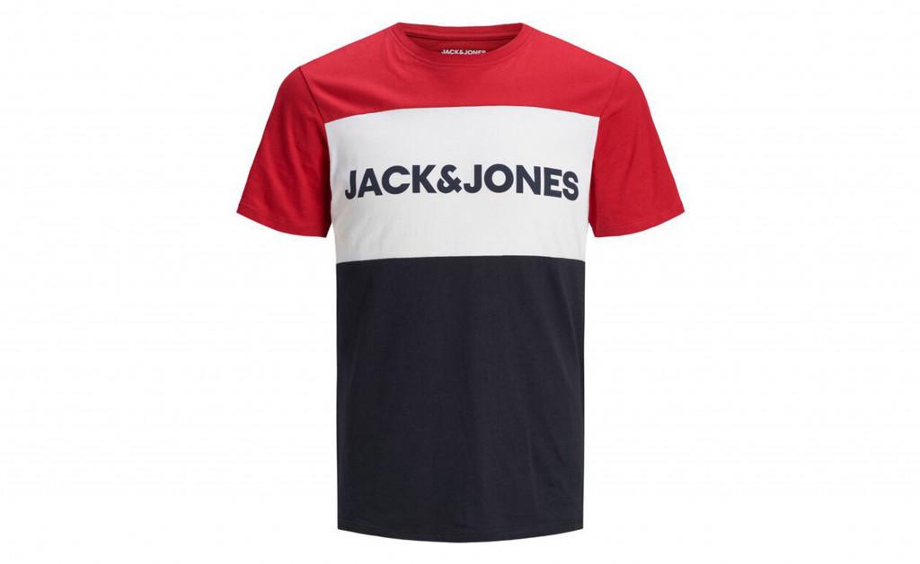 JACK & JONES LOGO BLOCKING TEE IMAGE 1