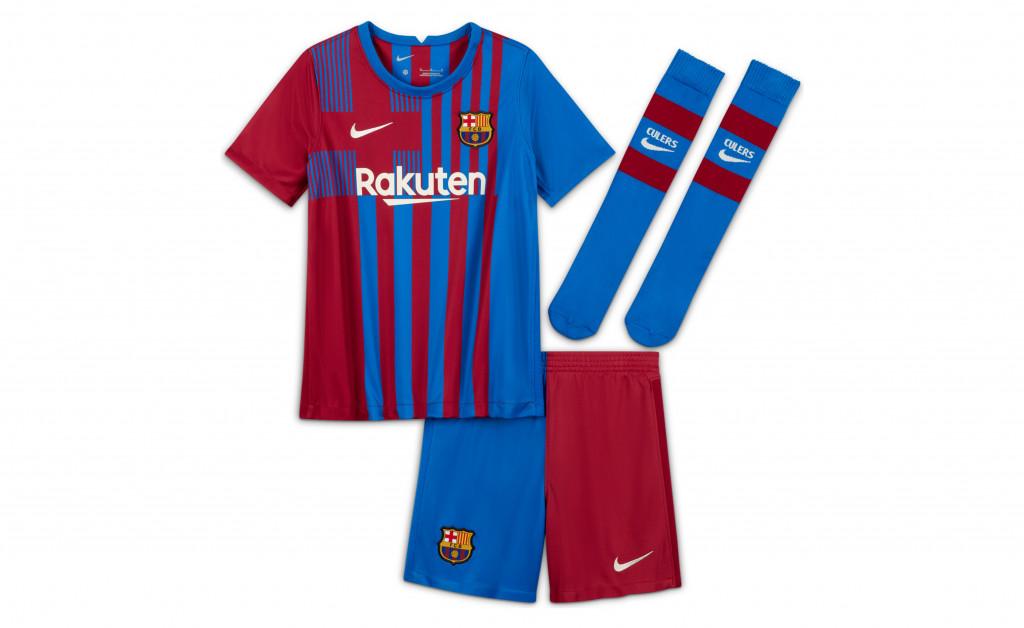 NIKE FC BARCELONA KIT HOME KIDS 21/22 IMAGE 1