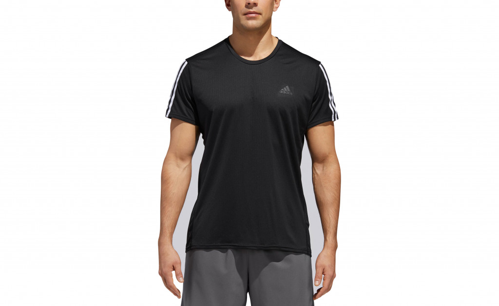 adidas RUN 3 STRIPES TEE MEN IMAGE 3