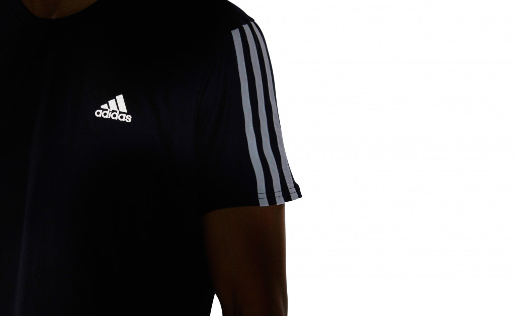 adidas RUN 3 STRIPES TEE MEN IMAGE 4