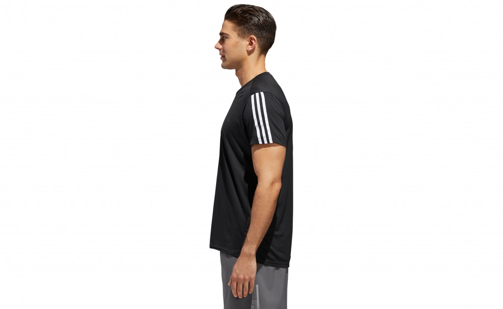 adidas RUN 3 STRIPES TEE MEN IMAGE 5