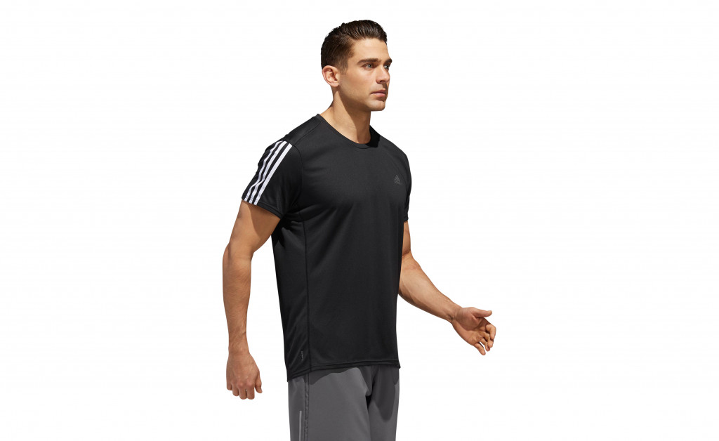 adidas RUN 3 STRIPES TEE MEN IMAGE 6