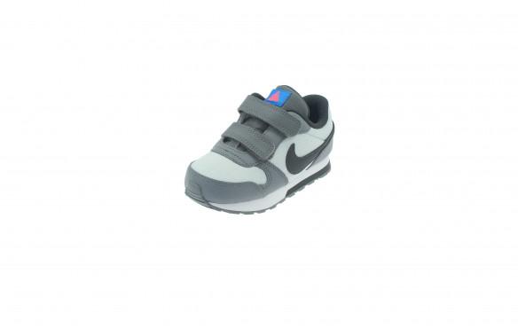 Nike MD Runner 2 Gris Zapatillas Velcro Niño
