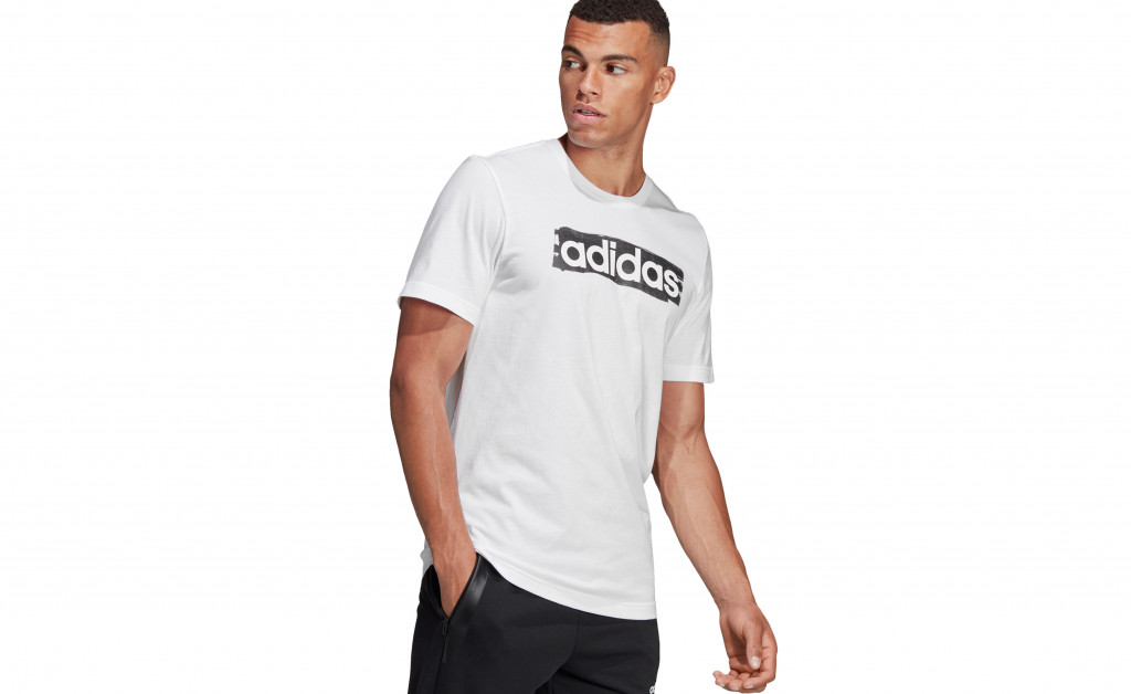 adidas LINEAR BRUSH TEE IMAGE 5