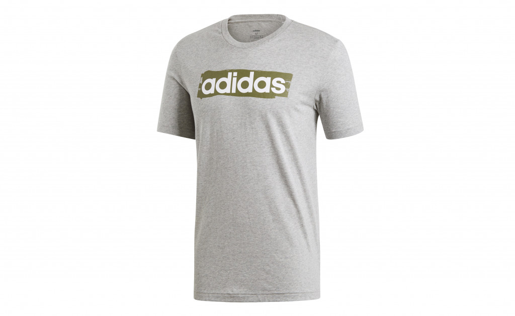 adidas LINEAR BRUSH TEE IMAGE 1