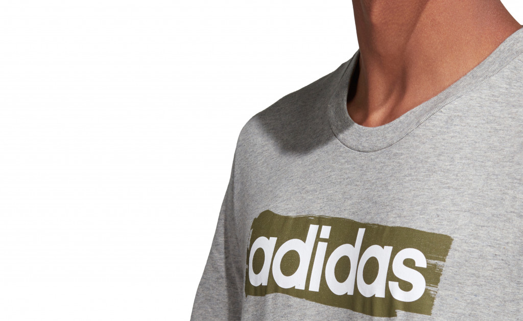 adidas LINEAR BRUSH TEE IMAGE 8
