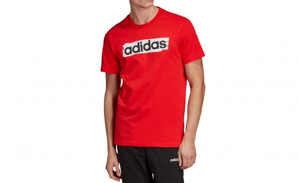 adidas LINEAR BRUSH TEE IMAGE 4